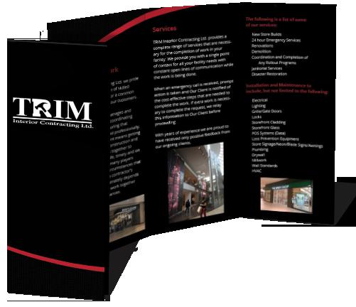 TRIM Tri-Fold Brochure Design