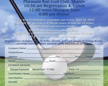 Flyer Design- Alzheimer Society Golf Tournament