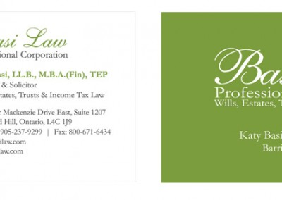 Basi Law Business Card Design