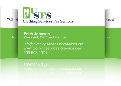 Clothing Services for Seniors Business Card Design