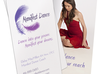 Manifest Dance Business Card Design