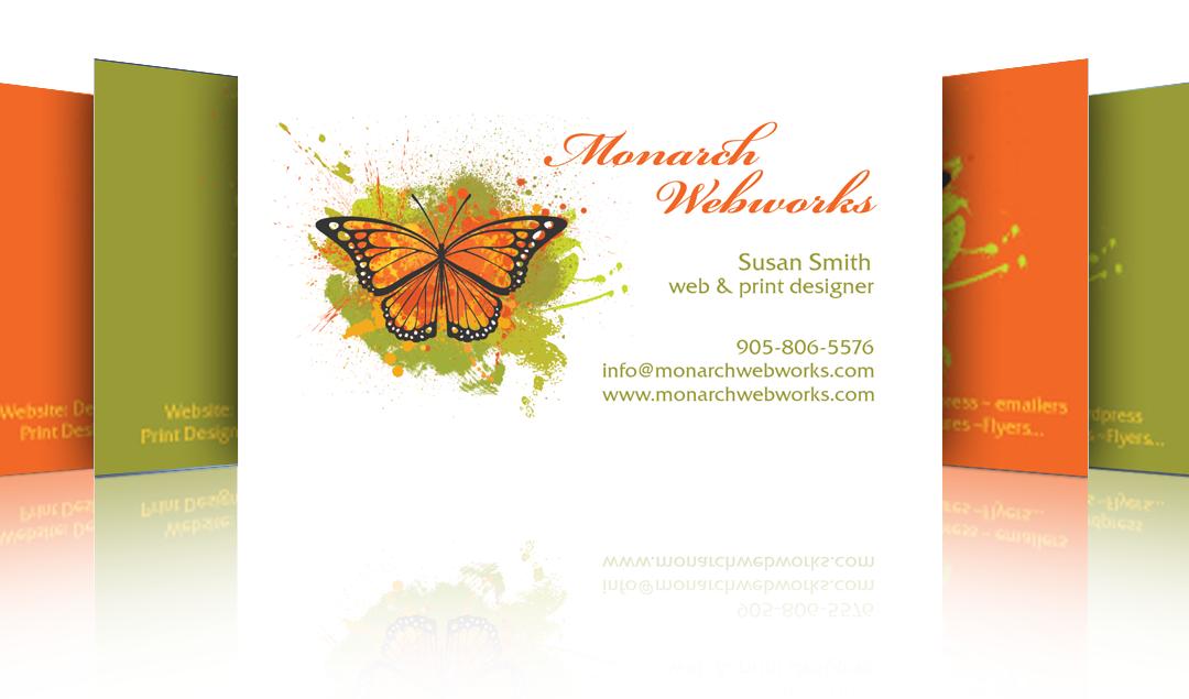 Business card design archives newmarket web design development monarch webworks business card design reheart Gallery