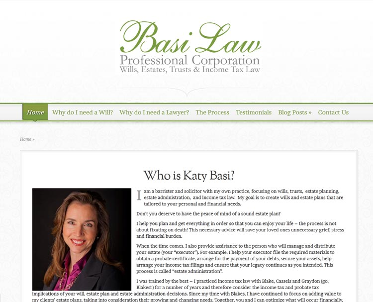image of Basi Law website