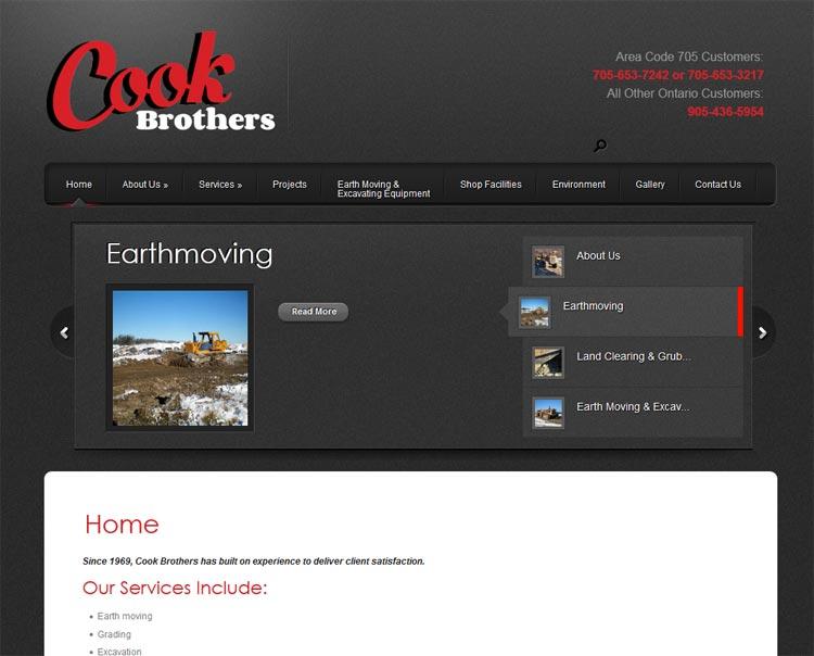 image of Cook Bros. website