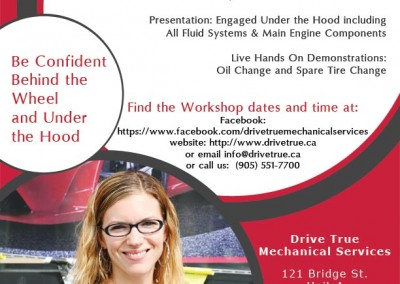 Drive True Mechanical Services Flyer Design