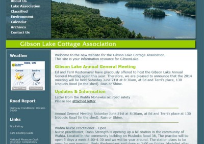 Gibson Lake Cottage Association