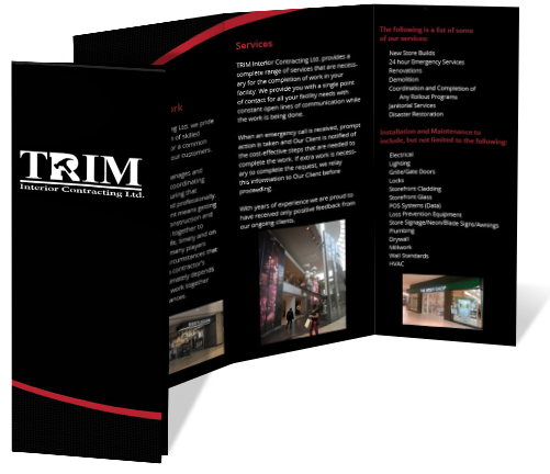 TRIM Tri-Fold Brochure Design