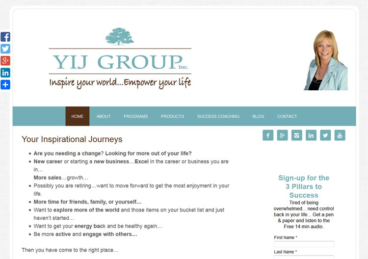 image of YIJ Group website