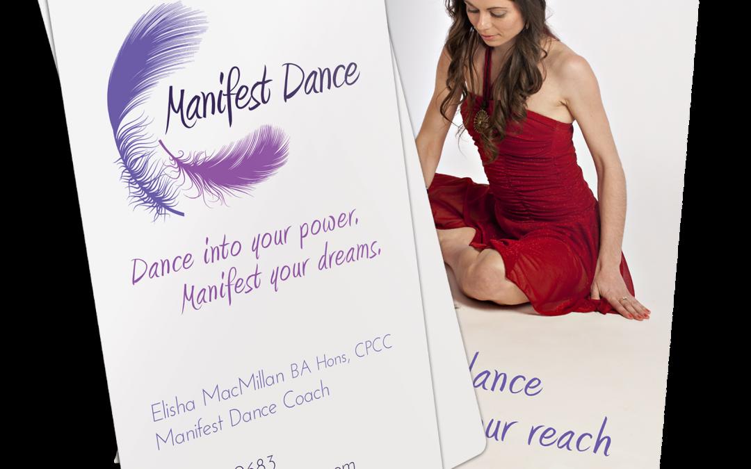 Manifest Dance Business Card Design