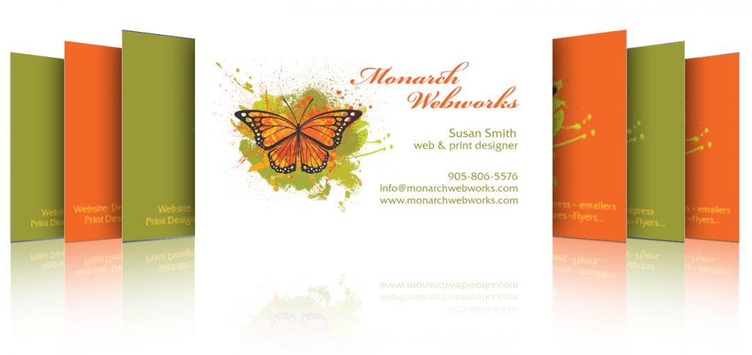 Monarch Webworks business card design